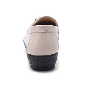 Image 3 - Ozersk Zachte Leisure Flats Vrouw Lederen Schoenen Mocassins Moeder Loafers Casual Vrouwelijke Rijden Ballet Schoenen Vrouwen Casual Schoenen