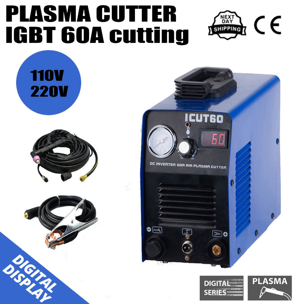 IGBT Digital Air Plasma Cutting Machine DC Interver CNC 60A WSD60 Torch DIY