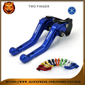 Motorcycle Adjustable Short Brake Clutch Levers For YAMAHA YZF R125 2014 2015 2016 YZFR125 YZF-R125 NEW STYLE BLUE red LOGO MOTO
