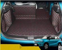 Good quality! Special trunk mats for New Suzuki Vitara 2016 waterproof durable boot carpets cargo mat for Vitara,Free shipping