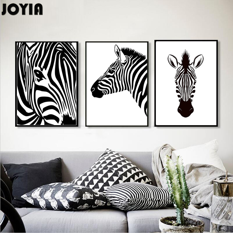 Buy modern home living room decor for Zebra decorations for home