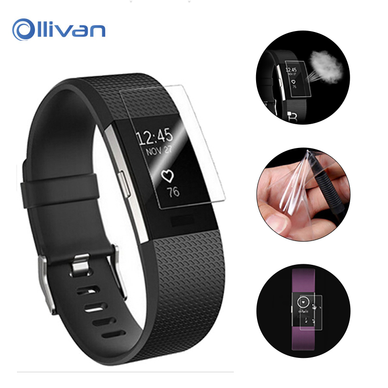 все цены на Ollivan HD Protective Film for Fitbit Charge 2 Charge2 Band Anti-Scratch TPU Screen Protectors Bracelet Screen Clear Ultra Thin онлайн