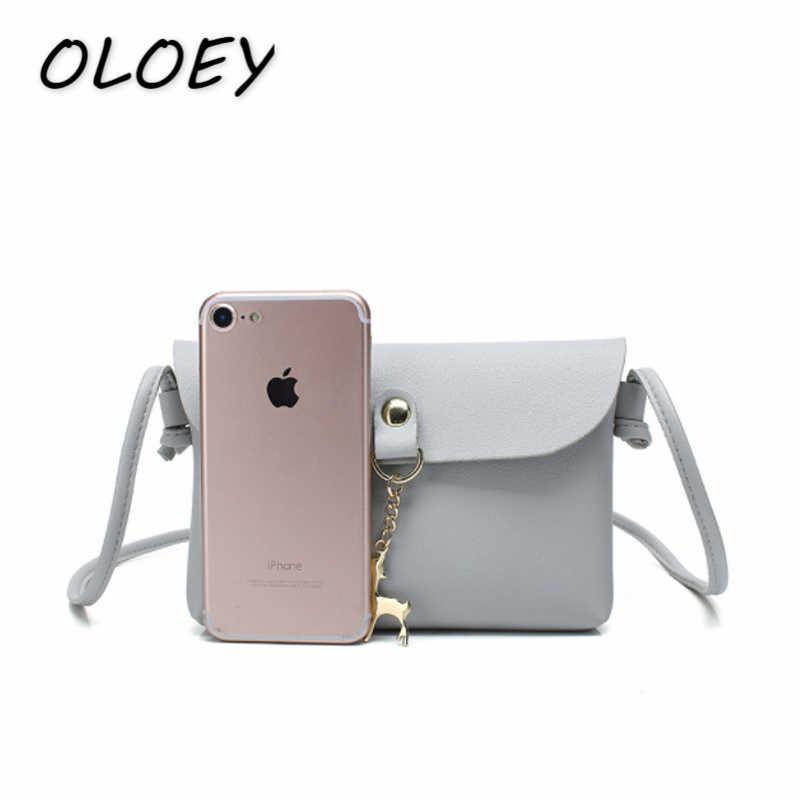 сумка женская оленем, мини-конверт, женские сумки, портативная искусственная кожа, однотонный Кошелек дл сумки женские