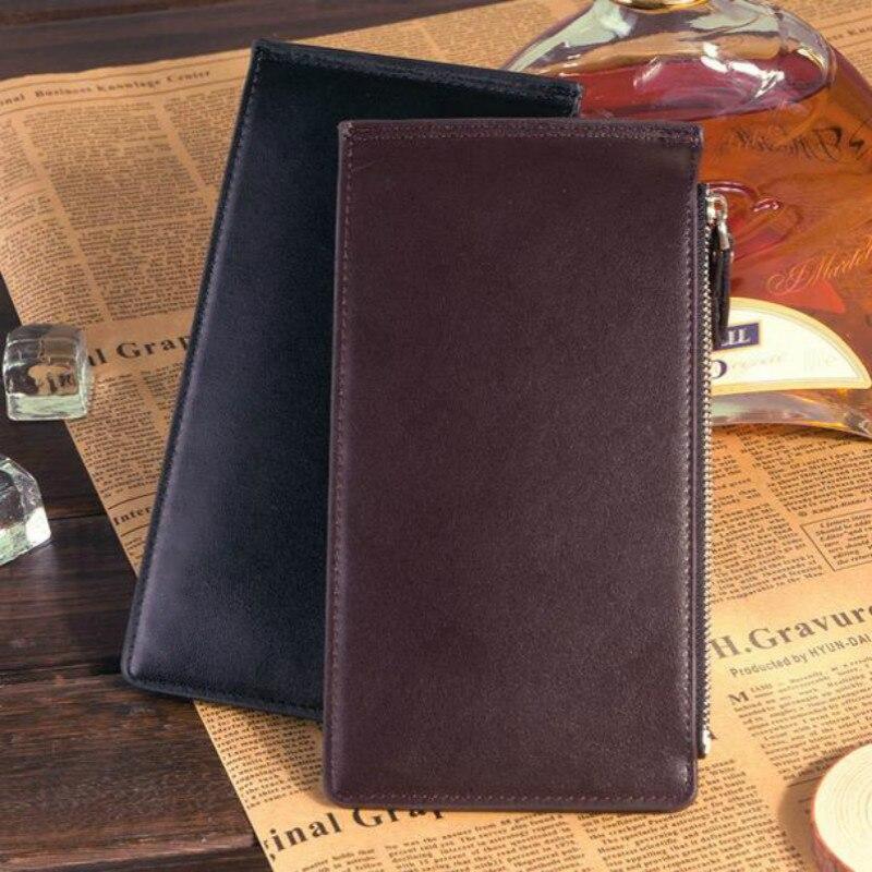 Wallet PU leather Ultra-thin Coin Purse Men handbags business card holder lan men s wallet ultra thin cow leather long wallet designed simple wallet