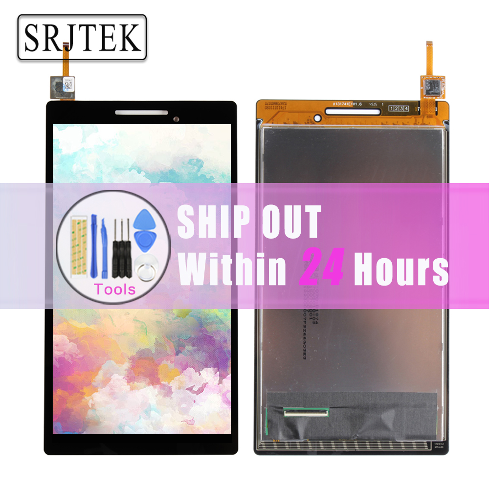 Srjtek New 7'' inch LCD Display + Touch Screen Digitizer Assembly Replacements For Lenovo Tab 2 A7-10 A7-10F High Quality for lenovo tab 2 a7 30 a7 30hc 2nd touch screen digitizer glass lcd display monitor assembly free shipping