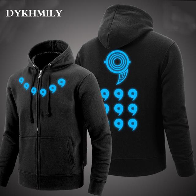 Naruto Jacket Men Zipper Hoodie Sweatshirt