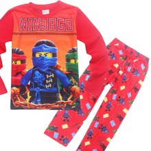 HOT Boys Clothing Set Kids Sleepwear Pajamas Ninja Ninjago Pants + Print Cartoon Film Girls Long Sleeve Sleepwear Costume Set