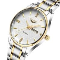 Famous Brand GUANQIN Men Watch 2018 Luminous Waterproof Quartz Watch Clock Fashion Luxury Analog Watch Quality Steel Wristwatch
