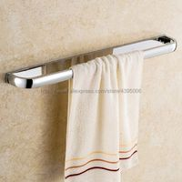 Polished Chrome Wall Mounted Bathroom Single Towel Bar Towel Rack Towel Holder Bathroom Accessories Bba833