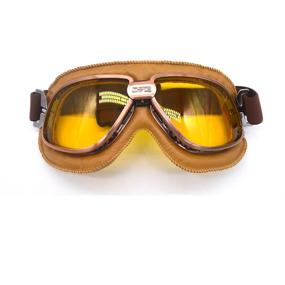 1849327201186 Compre Motocicleta Óculos De Moto Retro Estilo Piloto Aviador Piloto ...