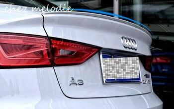 צבעים שונים ABS צבוע האחורי לרכב Trunk אגף ספוילר לאאודי A3 S3 2014-2016 סדאן, אין צורך קידוח