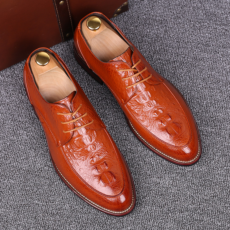 italian designer mens casual office party dresses comfort genuine leather shoes teenage lace-up flats oxford shoe zapatos hombre