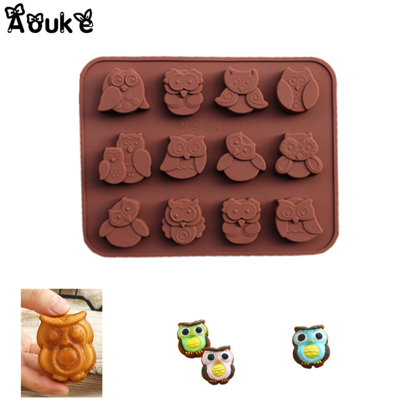 3d Owl Shape Ice Cubes Chocolate Molds Pudding Cookies