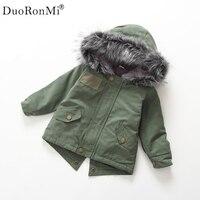 2017 New Fashion Cute Winter Toddler Kids Baby Girl Green Tops Windbreaker Jacket Coat Cotton Outwear