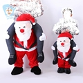 Santa Claus Christmas Costumes Carry Me Ride On Costume Funny Fancy Mascot Dress Cosplay Novelty