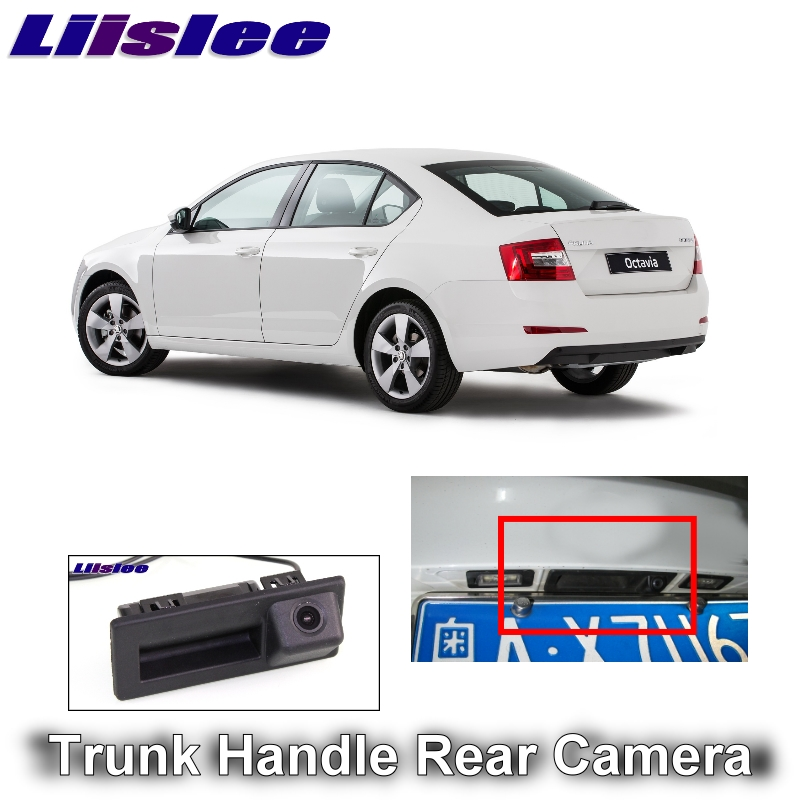 Für SKODA Octavia MK3 A7 5E 2016 2017 2018 LiisLee Auto Rückfahrkamera Statt der Ursprünglichen Fabrik Stamm Griff Kamera