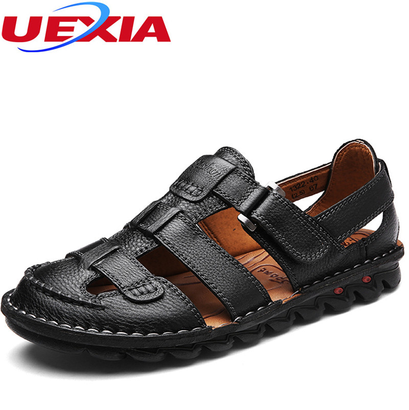 Men Fashion Sandals Summer Mens Leather Shoes Beach Comfortable Leisure Brand Cool Casual Breathable Zapatos Sandalias Hombre
