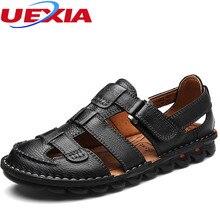 Sandalias De Moda masculina Zapatos de Cuero de Los Hombres de la Playa Del Verano Del Ocio Cómodo Marca Cool Casual Transpirable Zapatos Sandalias Hombre