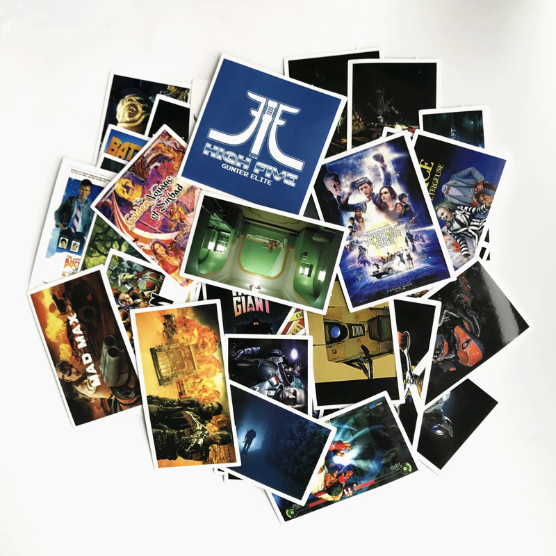 TD ZW 61Pcs 57pcs Ready Player One Stickers Decal For for Snowboard Laptop Luggage Car Fridge Car- Styling Sticker Pegatina