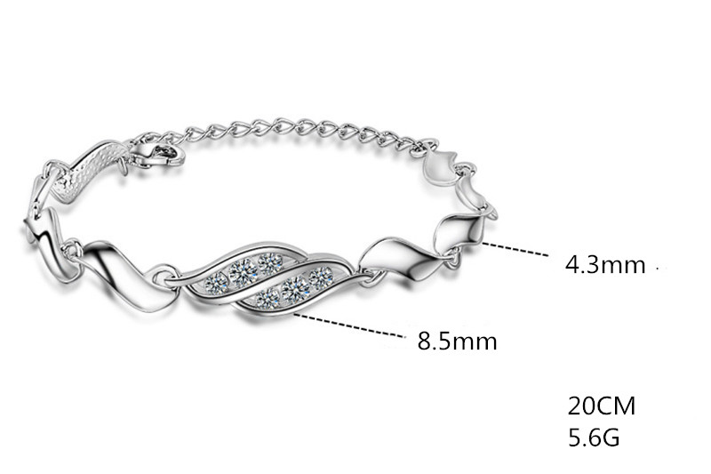 Everoyal Vintage Lady 925 Sterling Silver Bracelet Women Accessories Fashion Crystal Bracelet Female Princess Silver Jewelry Hot in Charm Bracelets from Jewelry Accessories