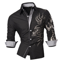 2019 Spring Autumn Features Shirts Men Casual Jeans Shirt New Arrival Long Sleeve Casual Slim Fit Male Shirts Z001