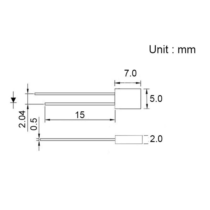 100 un. 2x5x7mm Blanco LED Rectangular LED Claro Agua Rectángulo Envío Gratuito