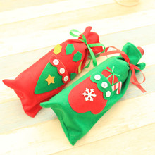 Christmas Red Wine Bottle Cover Bags home decoration storage bags New Year's products christmas gift Santa Claus Bottle Cover