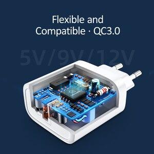 Image 3 - Cargador USB USAMS de carga rápida QC3.0 PD3.0 para iPhone X EU US enchufe cargador rápido para teléfono móvil para Samsung carga de pared USB única