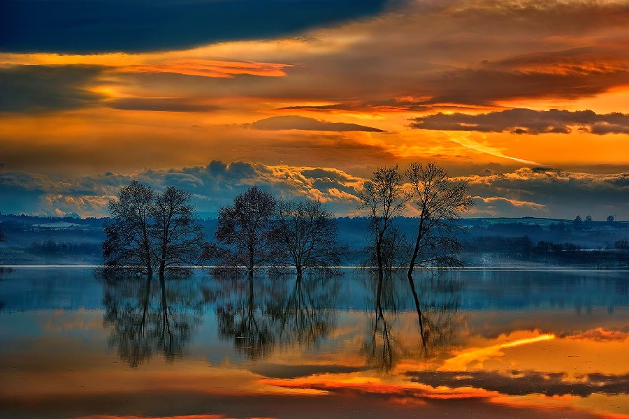 красивые картинки пейзаж закат том, как прошёл
