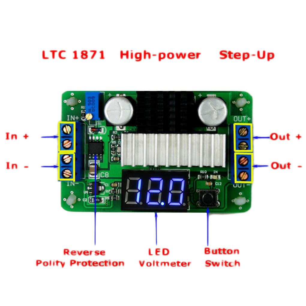 LTC1871 3.5V-30V DC Boost Converter Power Transformer Voltage Regulator Step Up Volt Module Power Supply Board for Car Auto