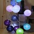 2.5 metros 10 iluminação led string + 10 pcs bola de algodão globo motorista caixa de bateria 2AA iluminação do feriado decoração do Natal