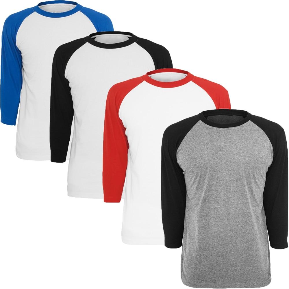 Fashion Mens O Neck T Shirt Men's Casual 3/4 Sleeve