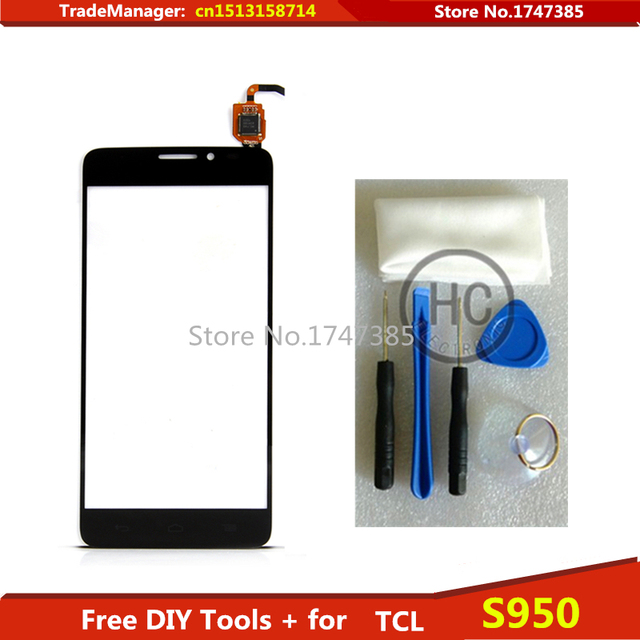 Envío DIY Tools + pantalla táctil Original para TCL s950 vidrio para Alcatel One Touch ídolo X 6040 6040A 6040D pantalla táctil digitalizador