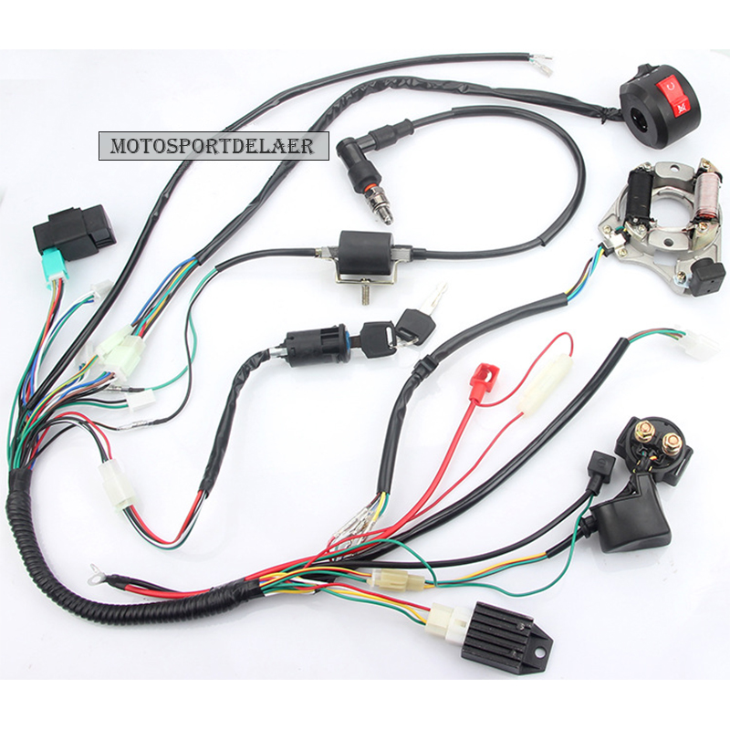 full electrics wiring harness cdi ignition coil rectifier. Black Bedroom Furniture Sets. Home Design Ideas