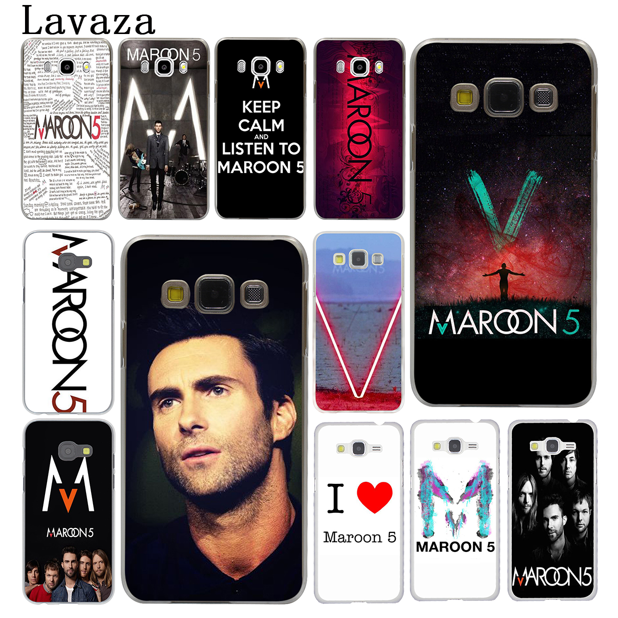 Lavaza maroon 5 Hard Phone Case for Samsung Galaxy J7 J1 J2 J3 J5 2015 2016 2017 Prime Pro Ace 2018 Cover