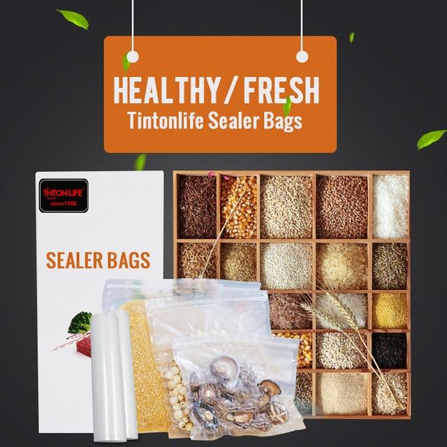 TINTON LIFE 25CMx500CM ROLLS VACUUM HEAT SEALER FOOD SAVER BAGS Food Storage Bags Saran Wrap Vacuum Food Sealers