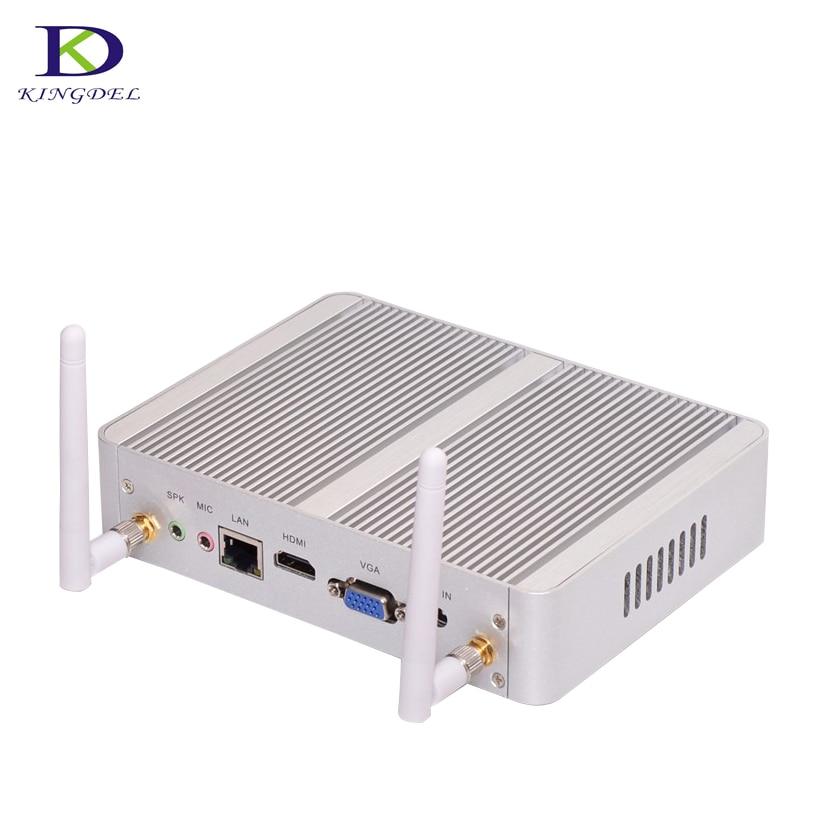 [Quad Core Celeron N3150]Nuc Fanless HTPC intel HD Graphics Mini Computer With HDMI VGA LAN 4*USB3.0 Nettop Windows 10 TV BOX