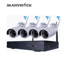 4CH CCTV Camera System ip camera wifi nvr Kit  4 cameras wireless 2mp camera surveillance system wifi outdoor Waterproof DVR IR