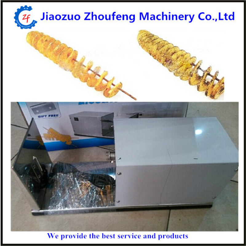 Electric stainless steel potato spiral cutter twist potato cutter potato spiral slicer potato machine    ZF 2016 upgrade type easy operation spiral potato cucumber slicer cutter tornado type twist potato machine