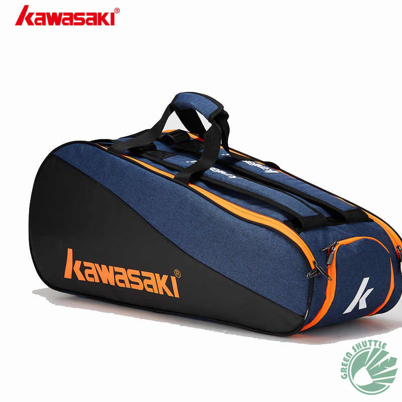 2019 New Kawasaki badminton bag 6 single-shoulder backpacks  racket bags men's and women's sports KBB-8640 8641