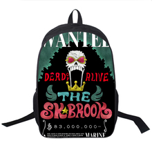 One Piece  Wanted Print  Backpack