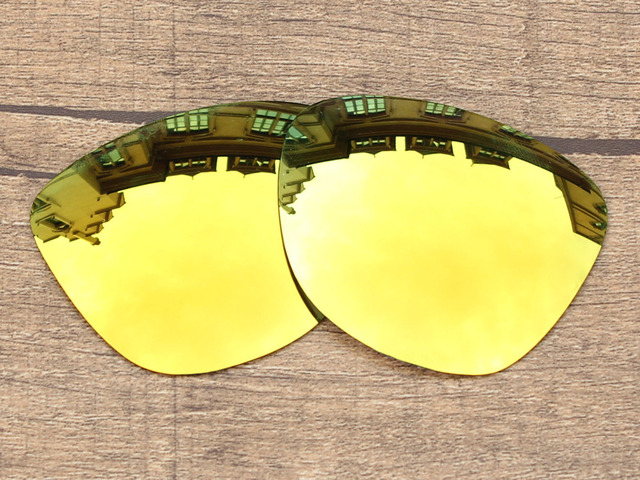 24K Golden Mirror Polarized Replacement Lenses For Frogskins Sunglasses Frame 100% UVA & UVB Protection