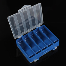 High Quality Fishing Tackle Boxes Fishing Lure Bait Hook Storage Case Tackle Box with 10 Small Compartments Fishing Accessories