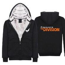 2016 Game Tom Clancy's The Division Winter Hoodies Super Warm Fleece Cotton Zip up Coats Sweatshirts