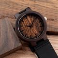 2017 bobo bird de primeras marcas para hombre relojes banda de cuero reloj de madera de madera relojes de pulsera para hombres relogio masculino ocasional c-c24a