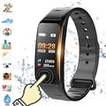 Color Screen C1S Smart Bracelet Waterproof Heart Rate Monitor Health Fitness Tracker Bluetooth Smart Watch for Sport PK MI Band