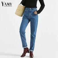 New 2015 Fashion Vintage Ladies Retro High Waist Jeans Woman Brand Slim Pencil Denim Pants Women