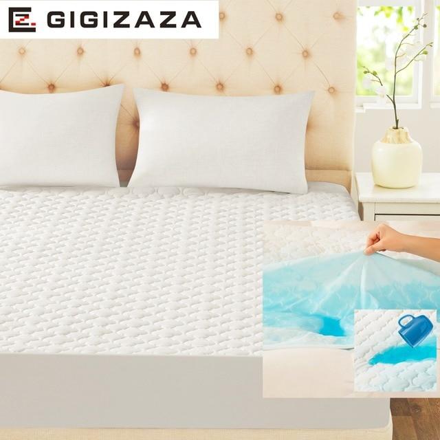Gigizaza Waterproof Mattress Pad 150 X 200 Cm White Tpu Foam Back