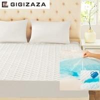 Gigizaza Водонепроницаемый наматрасник 150x200 см белый ТПУ пеноматериала Стёганое одеяло матрас защитную крышку для кровать полный Queen размеры