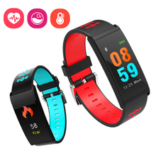 2018 Новые смарт-браслет монитор сердечного ритма крови Давление Фитнес трекер Водонепроницаемый Smart спортивные часы браслет
